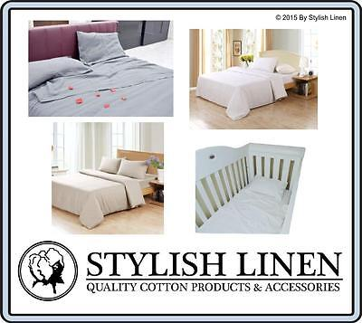 100% Bamboo Bed Sheet Set Fitted Flat Pillowcase Queen King Cot 300 T/C New