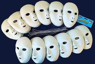 Amazing Arts and Crafts 12pcs Fancy Dress Face Masks to paint or decorate