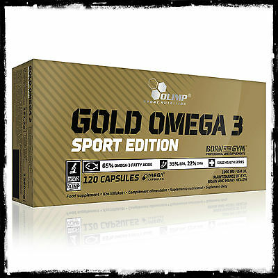 Olimp Gold Omega 3 Sport Edition Fish Oil 1000mg EPA & DHA mega caps fatty acids