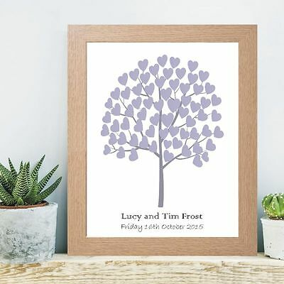 A3 Tree of Hearts Signature Tree - Wedding, Christening, Baptism Guest book