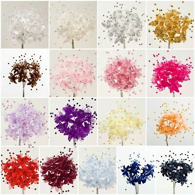 Bunch Baby's BABIES BREATH Stems Pearl Flower Spray Favour Craft Card Decoration