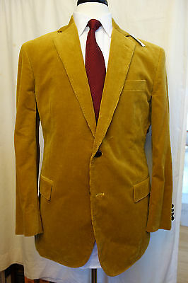 New With Tags Brooks Brothers 1818 Regent Tan Gold Corduroy Sport Coat MSRP $448