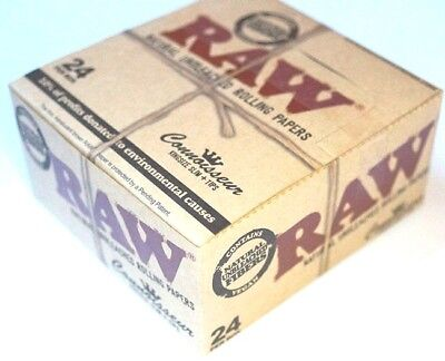 1 Box RAW Papers Connoisseur King Size Slim Classic mit Tips KS rolling papers