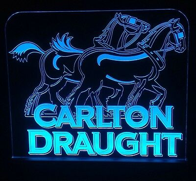 Carlton Draught LED Sign,Edgelit,Bar,Mancave,Led,Remote Control,Light,Gift