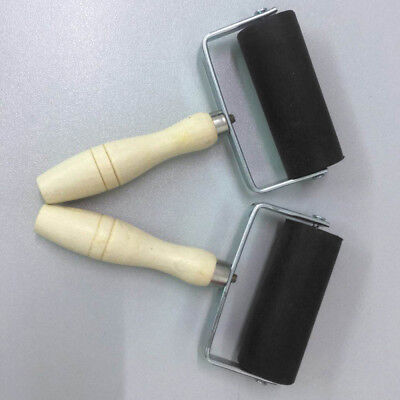 Ink Paint Lino Painting Brayer Roller with Wood Handle for Stamping Printing 6cm