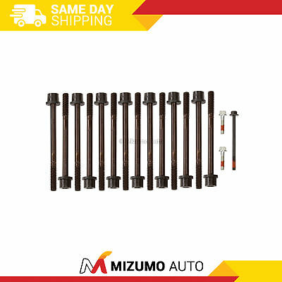 Head Bolts Fit 02-09 Chevrolet Corolado GMC Canyon Hummer 2.8 2.9 3.5 3.7 4.2