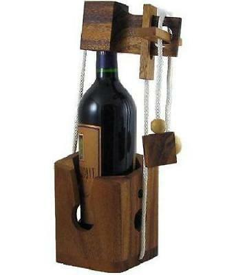 Think-n-Drink - Wooden Wine Bottle Puzzle Brain Teaser