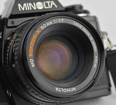 Minolta X-700 Camera with 50mm Lens ~ Looks Good ~ Works Excellent