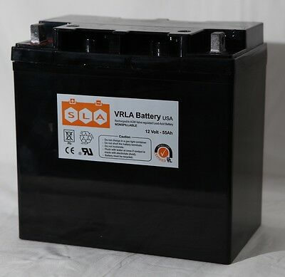 12V 55AH Sealed Lead Acid Deep Cycle Battery UB12550 Pride Jazzy Invacare