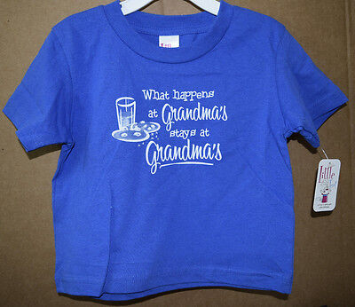 What Happens at Grandma's Stays at Grandma Infant/Toddler Shirt Little Teez New