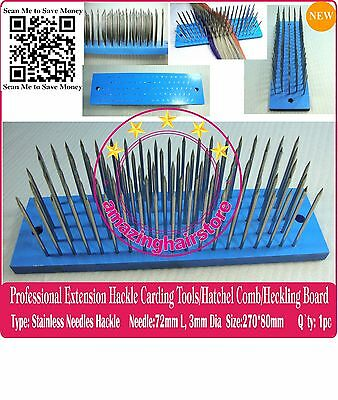 Hetchel Hatchel Hackle Hair Extension Carding Comb making Wig Toupee Flax Heckle