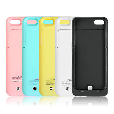 For iPhone 5/5S/5C/SE Portable Power Bank Battery Charger Case Backup Pack Cover