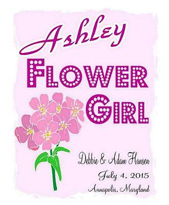 Personalized FLOWER GIRL T-SHIRT Customized Wedding Toddler to Adult Sizes