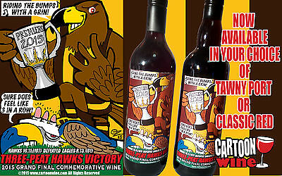 2015 Hawthorn Grand Final Victory Commemorative Wine OR Port by CARTOON wine