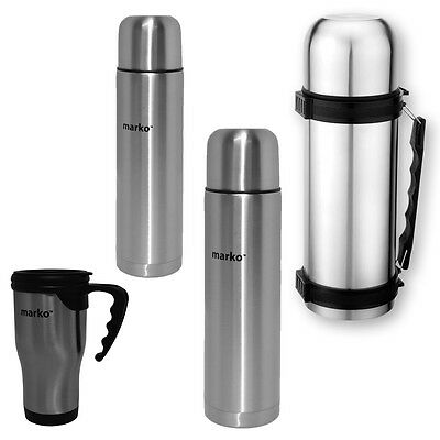 Thermos Flask Stainless Steel Hot Cold Travel Drinks Soup Tea Coffee