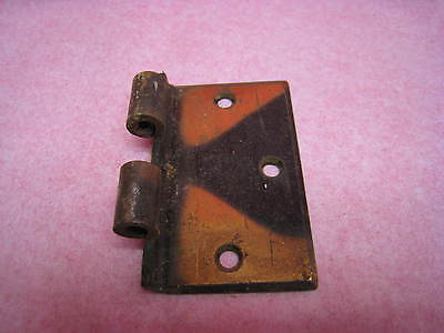 "1 Vintage  Heavy Duty Off-Set Brass Hinge Part , 3 1/2"" Tall Door Side Only"