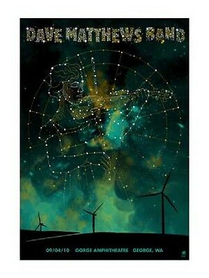 Dave Matthews Band Poster 9/4/2010 Gorge N2 Zodiac Virgo Signed & Numbered #1200