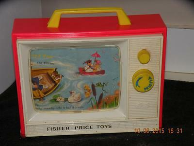 1966 Fisher Price Two Tune #114 Giant Screen Music Box London row row boat