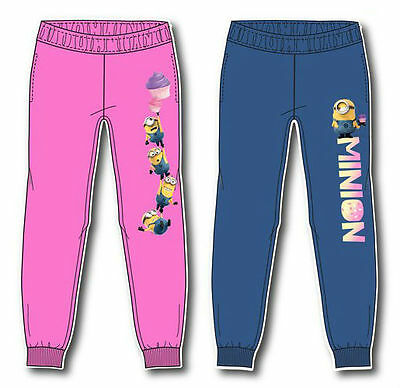 Minion Jogging Bottoms Trousers Tracksuit Girls Despicable Me Age 2-8Y Official