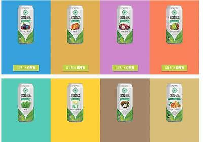 STEAZ Organic Ice Tea - Choose between flavors! 16 pack x16oz cans