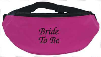 Bride To Be / Hen Party Fuchsia Pink Bum Bag - FREE POSTAGE (One Size) Bridal