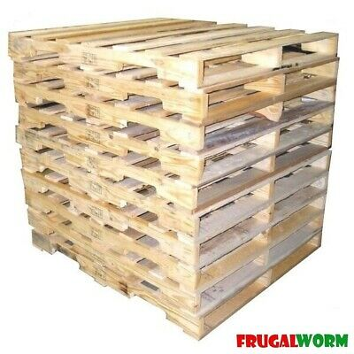 "10 Recycled Wood Pallet - 48"" x 40"" 4-Way Wood Pallets"