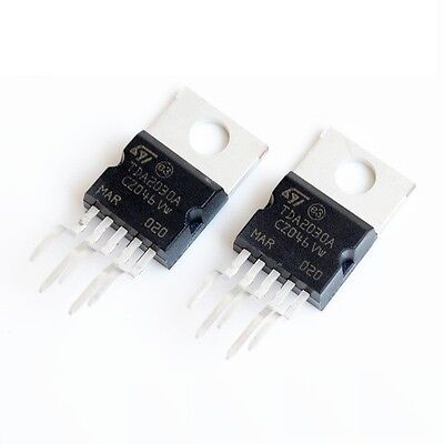 10 PCS TDA2030A IC AMP AUDIO 18W MONO PENTAWATT5 New