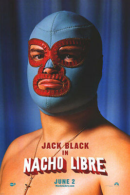 Nacho Libre Advance Version C Original Movie Poster Double Sided 27x40 inches