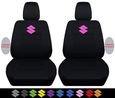 2 front car seat covers black fit 2005-2016 suzuki swift ,rear available too