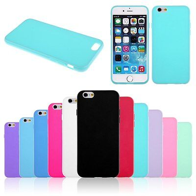 Funda de Silicona Gel TPU Slim Carcasa Cover Case Para Apple iPhone 6 6S Plus