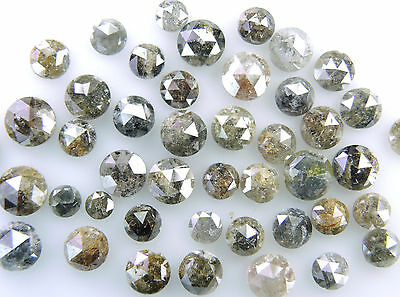 Natural Loose Diamond Round Rose Cut Mix Fancy Color 2.0 to 5.0MM 1.0 Ct Lot Q71