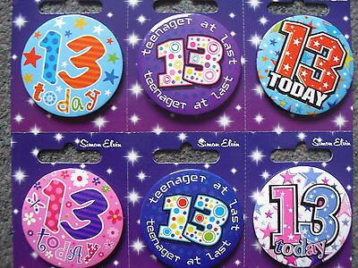 13th Birthday Badge