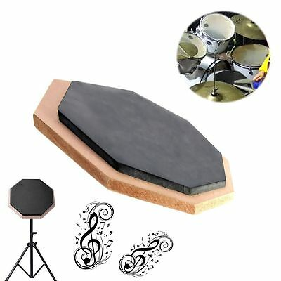 6 inch Double Side Dumb Practice Pad Mat Blow Plate Drummer Rubber Soft Black
