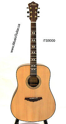 iMusicGuitar iTS9000 Solid Top Cedar Acoustic Guitar
