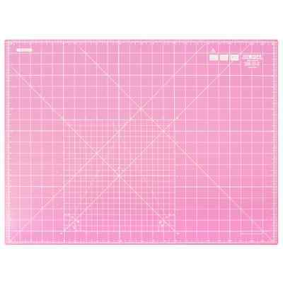 "OLFA Quilters Double Sided Self Healing Rotary Cutting Mat 24"" x 18"" in Pink!"