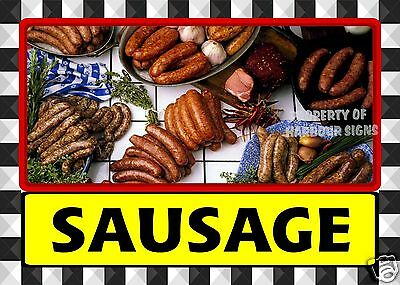 "Sausage Decal 14"" Deli Catering Fresh Market Restaurant Food Truck Concession"