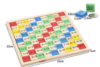 Wooden number calculation multiplication game board toy Montessori educational