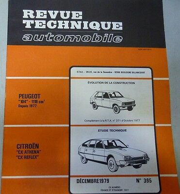 NEUF !!! Revue technique CITROEN CX ATHENA REFLEX BREAK BERLINE RTA 395 1979 104