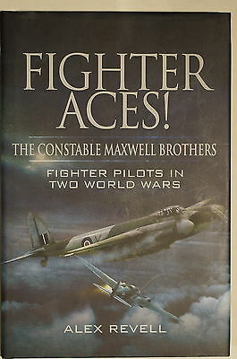WW1 WW2 British Fighter Aces! Constable Maxwell Brothers Pilots Reference Book
