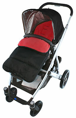 Footmuff / Cosy Toes Compatible with Phil & Teds Verve Pushchair Fire Red