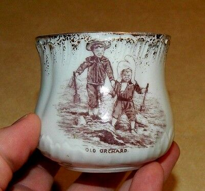 Early Gold Trim Souvenir Mug w/ Ugly Children Transfer Old Orchard Beach Maine