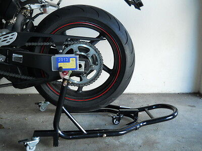 Motorcycle Bike Rear Stand, Dolly Mover, Space Saver, 2 in 1