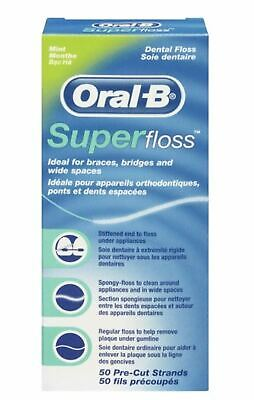 Oral B SuperFloss Super Dental Floss for Braces Bridges - 1 3 6 Pack