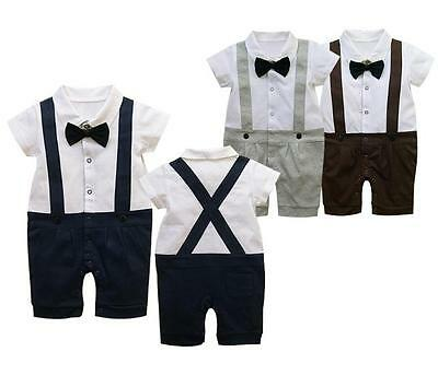 BNWT Baby Tuxedo Romper Playsuit smart wedding 1st birthday outfit 0-18m