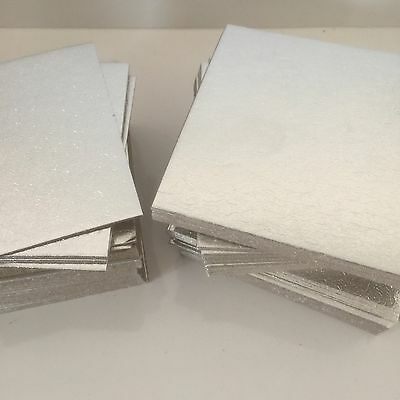 "20 x 4"" INCH (98mm) SQUARE Thin SILVER  cake boards cards sugarcraft culpitt"