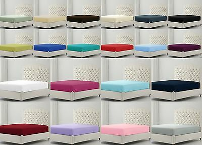 Non Iron Rich Cotton Extra Deep Fitted Sheet / Valance Frilled / Pleated Valance