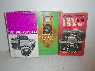 3 Book Lot History of Potography Cameras by Dover and Amphoto