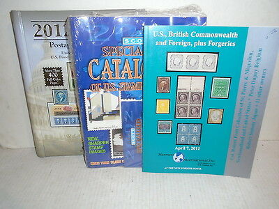 3 Books Specialized Postage Stamps US And Foreign Stamps Catalog 2012 Harris