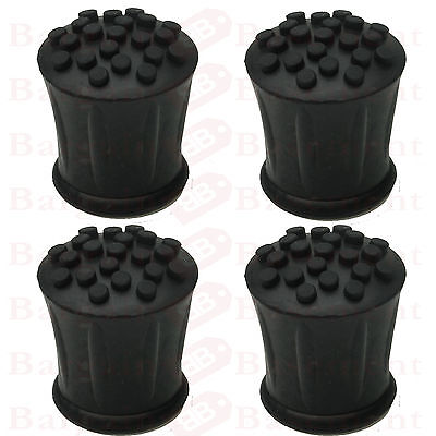 Heavy Duty Walking Stick Ends Rubber Ferrules Set Of 4 Choice Of Sizes Non Slip