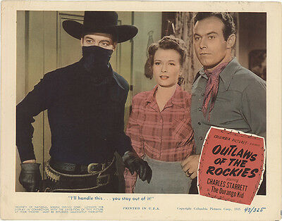 Outlaws of the Rockies 1945 Original Movie Poster Action Western